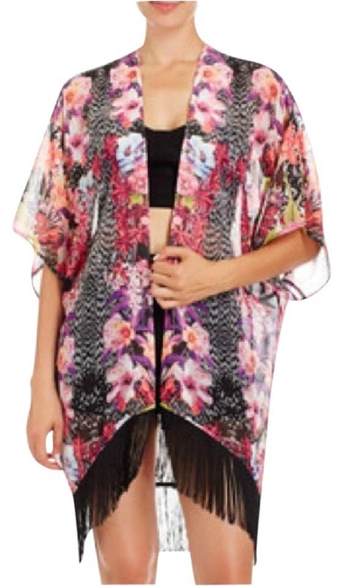 Preload https://item2.tradesy.com/images/2b-bebe-pink-floral-and-black-kimono-ponchocape-size-2-xs-4181686-0-0.jpg?width=400&height=650