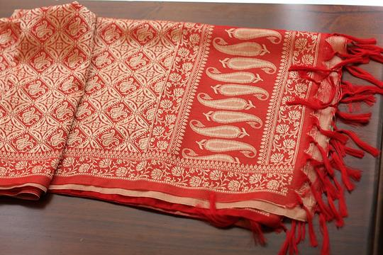 Other red paisley scarf