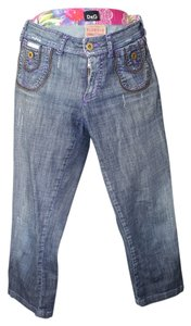 Dolce&Gabbana Capri/Cropped Denim-Distressed