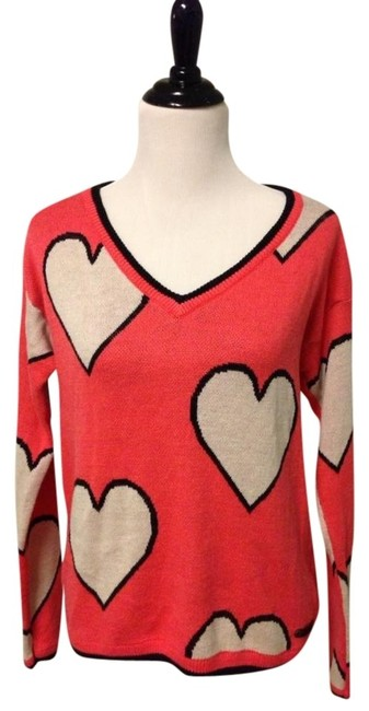 Preload https://item3.tradesy.com/images/dept-pink-and-black-hearts-sweaterpullover-size-8-m-418262-0-0.jpg?width=400&height=650