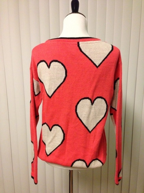 DEPT Youth Hearts Cutesy V-neck Sweater