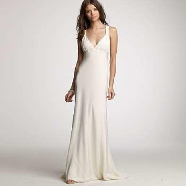 Item - Ivory Silk Avery Gown In Tricotine Casual Wedding Dress Size 6 (S)