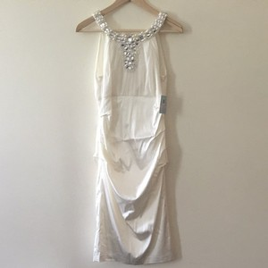 Suzi Chin for Maggy Boutique Ivory Silk Wedding Dress Size 6 (S)