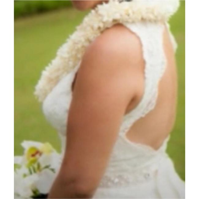 Watters Cream Lace Gown Vintage Wedding Dress Size 8 (M) Watters Cream Lace Gown Vintage Wedding Dress Size 8 (M) Image 2