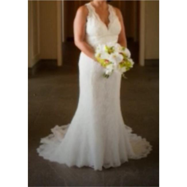 Watters Cream Lace Gown Vintage Wedding Dress Size 8 (M) Watters Cream Lace Gown Vintage Wedding Dress Size 8 (M) Image 3