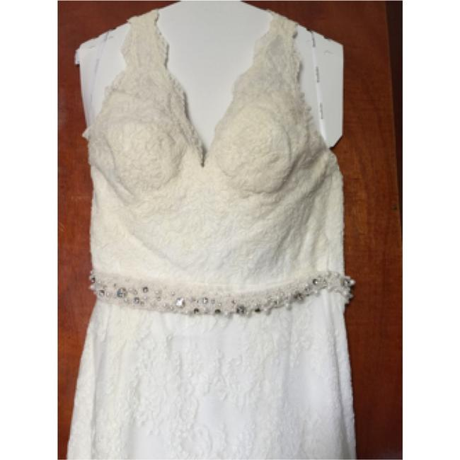 Watters Cream Lace Gown Vintage Wedding Dress Size 8 (M) Watters Cream Lace Gown Vintage Wedding Dress Size 8 (M) Image 4