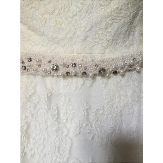 Watters Cream Lace Gown Vintage Wedding Dress Size 8 (M) Watters Cream Lace Gown Vintage Wedding Dress Size 8 (M) Image 5