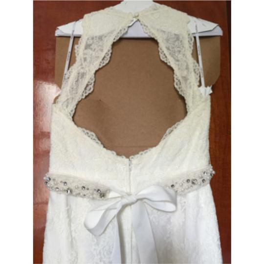 Watters Cream Lace Gown Vintage Dress Size 8 (M)