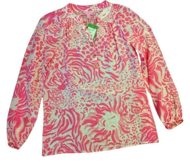 Preload https://item3.tradesy.com/images/lilly-pulitzer-get-spotted-elsa-blouse-size-00-xxs-4184662-0-0.jpg?width=400&height=650