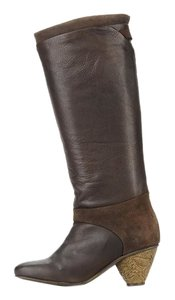 FLY London Leather Knee High Brown Boots