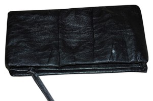 Express Foldover Black Clutch