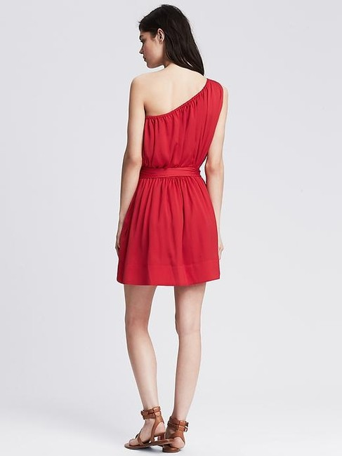 Banana Republic One Shoulder Belted Bow Holiday Party Dress
