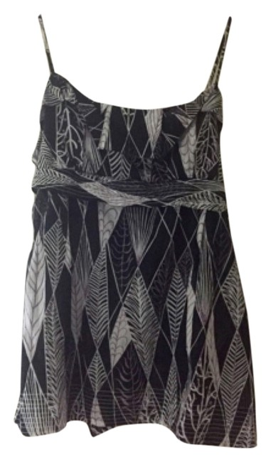 Preload https://item3.tradesy.com/images/bcbgmaxazria-bcbg-summer-tank-top-black-and-white-design-with-accents-of-purple-4185112-0-0.jpg?width=400&height=650