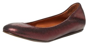 Lanvin Ballerina Ballet Leather Purple Flats