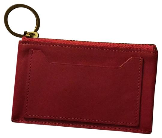 J.Crew Wristlet in Hot Pink With Gold Hardware