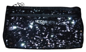 Victoria's Secret Black/Silver Sequins Clutch