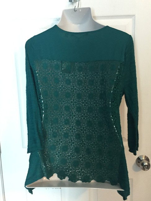 Anthropologie Top Blueish Green