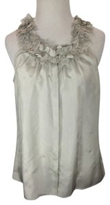 J.Crew #silk #petals #sleeveless Top pale grey