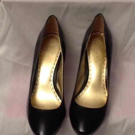 Coach Black Patent Leather Pumps