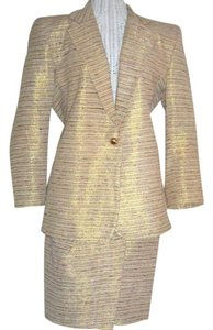 The Icing NOS The Icing Silk Gold Lame' Sarong Skirt & Jacket Suit
