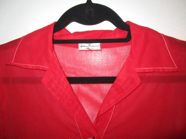 Philosophy di Alberta Ferretti Top Red with White Trim