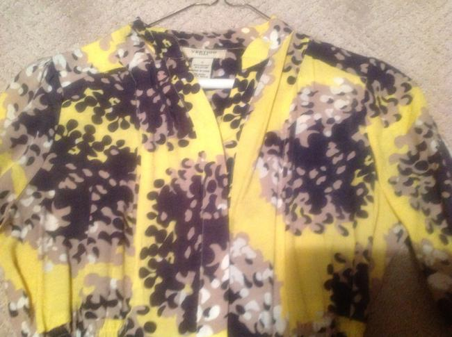 Vertigo Button Down Shirt Yellow