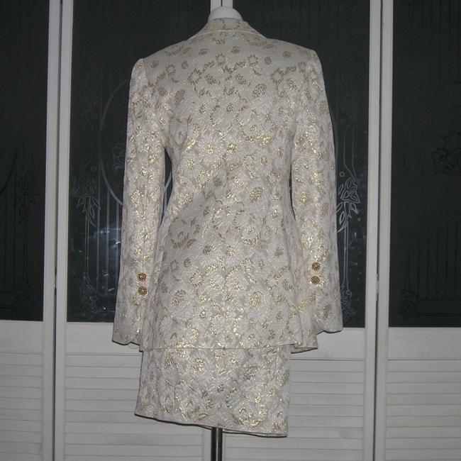 Vintage Couture Vintage Gold Lame' Brocade Jacket Skirt Bustier Couture Suit