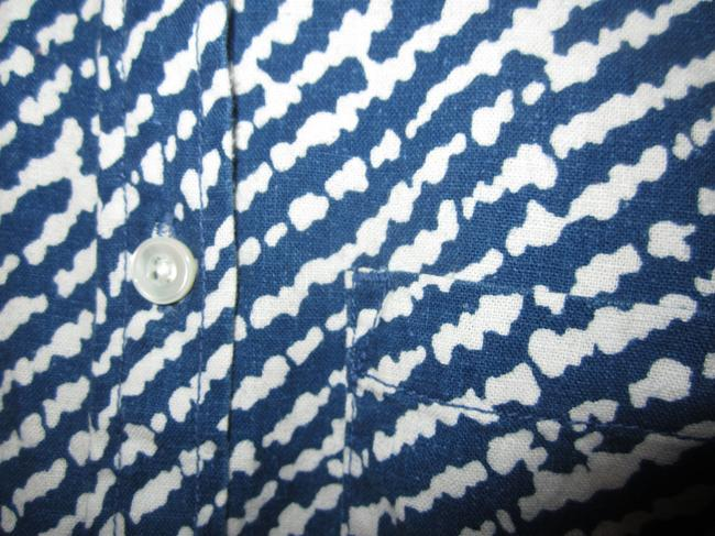 J.Crew Top Blue and White