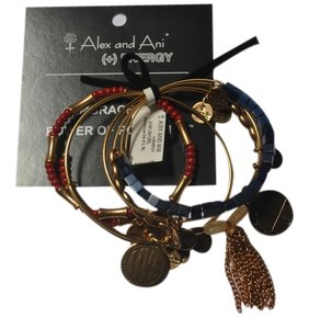 Alex and Ani Alex and Ani Set of 5 Gold Berrylicious NWT Sugarcube; Gypsy Sweetheart; LIVE; Sunbeam; New York