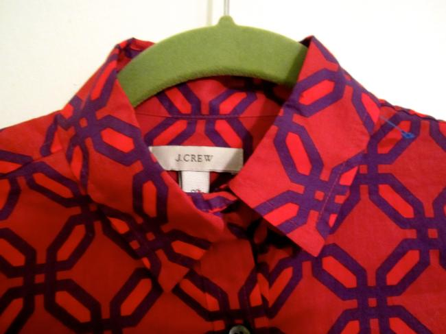 J.Crew Top Red and Purple