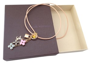 Louis Vuitton Logo charms necklace