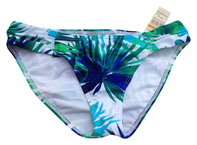 Tommy Bahama TOMMY BAHAMA TROPICAL LEAF REVERSIBLE SWIM BOTTOMS BLUE MULTI SMALL NEW