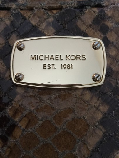 Michael Kors Mk Embossed Leather New Cross Body Bag