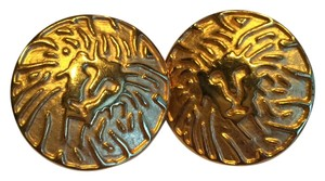 Anne Klein Anne Klein Lion Clip On Earrings