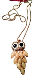 Betsey Johnson Betsey Johnson Necklace Owl Opal Crystals J1056