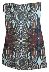 See by Chloé short dress Red, brown, white Mini Print Paisley Fall Orange Mini-dress on Tradesy