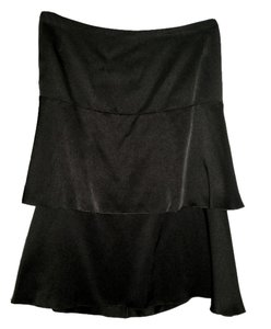 Chanel Silk Knee-length Skirt black