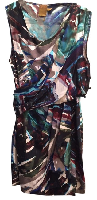 Ali Ro short dress Multi/Purple Silk Print Party Flowy on Tradesy