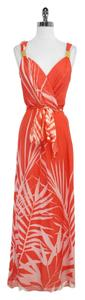 Maxi Dress by MILLY Print Silk Sleeveless