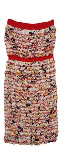 Diane von Furstenberg short dress Floral Silk Strapless on Tradesy