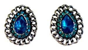 Other Earrings Studs Blue Black Silver J1063 Summersale