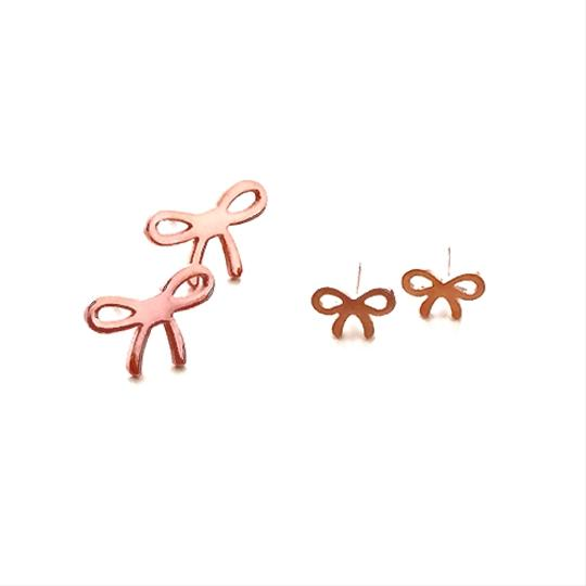 Other The Large Bow on Top Earring Stud 18k Rose Gold