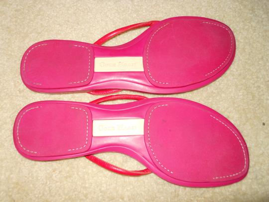 Cole Haan Leather Thong red & pink Sandals