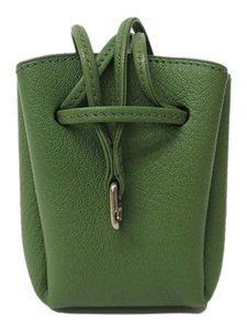 Hermès Vespa Pouch Stock0960 Green Clutch