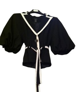 Arden B. Black/ white trim Blazer