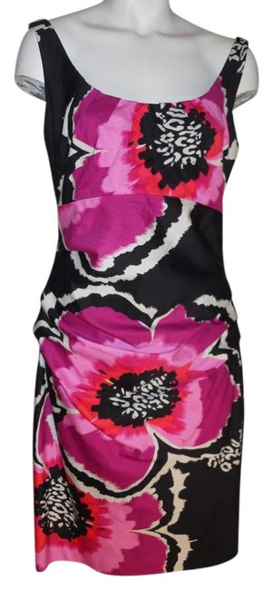 Preload https://item4.tradesy.com/images/suzi-chin-black-pink-purple-and-white-for-maggy-boutique-knee-length-cocktail-dress-size-10-m-4191043-0-0.jpg?width=400&height=650