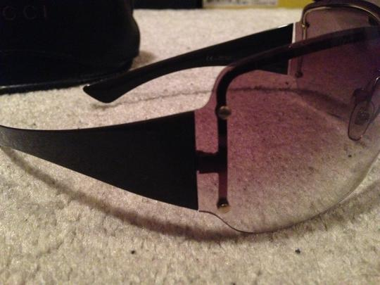 Gucci Brown Oversized Rimless Gucci Sunglasses