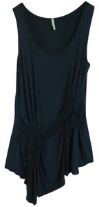 Olivia Moon Knit Ruched Sleeveless Tunic