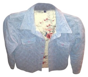 Earl Jeans Fitted Warm Quilted Pastel Blue Jacket