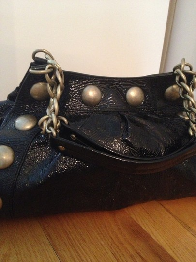 Cynthia Rowley Studded Patent Leather Chain Shoulder Bag